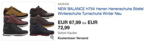 NEW BALANCE H754 Herrenschuhe - jetzt 9% billiger