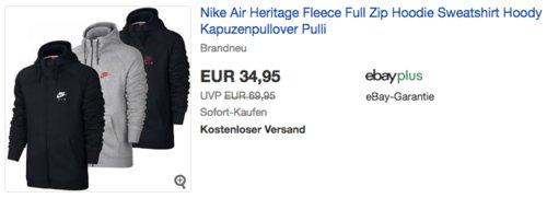 Nike Air Heritage Full Zip Kapuzenpullover - jetzt 22% billiger