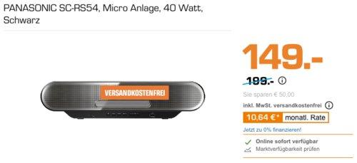 PANASONIC SC-RS54 Micro Soundanlage, schwarz - jetzt 24% billiger