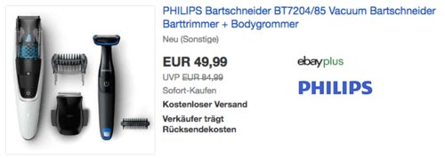 PHILIPS Bartschneider BT7204/85 (neu und unbenutzt, aber leichte Verpackungsmängel können vorhanden sein) - jetzt 31% billiger