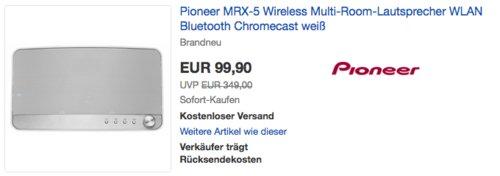 Pioneer MRX-5 Wireless Multi-Room-Lautsprecher, weiß - jetzt 31% billiger
