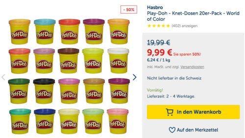 Play-Doh - Knet-Dosen 20er-Pack - World of Color - jetzt 14% billiger