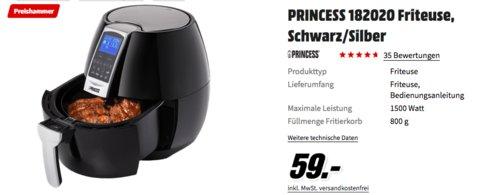 Princess XL 182020 Heißluftfritteuse, 1500 Watt - jetzt 17% billiger
