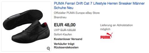 PUMA Ferrari Drift Cat 7 Lifestyle Herren Sneaker - jetzt 26% billiger