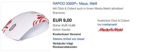 RAPOO 3300P+ Maus - jetzt 40% billiger