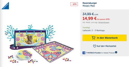 Ravensburger Mosaic Maxi - jetzt 28% billiger