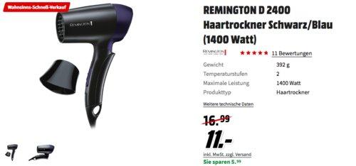 REMINGTON D 2400 Haartrockner, schwarz/blau - jetzt 21% billiger