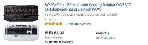 ROCCAT Isku FX Multicolor Gaming Tastatur - jetzt 15% billiger