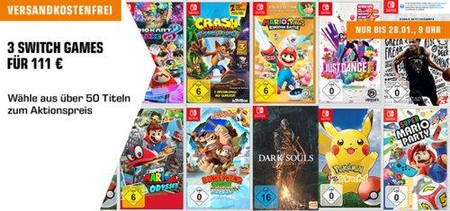 Saturn Aktion: 3 Nintendo Switch Spiele für 111€ - jetzt 26% billiger