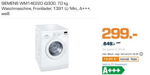 SIEMENS WM1 4E220 iQ300 7.0 kg Waschmaschine - jetzt 26% billiger
