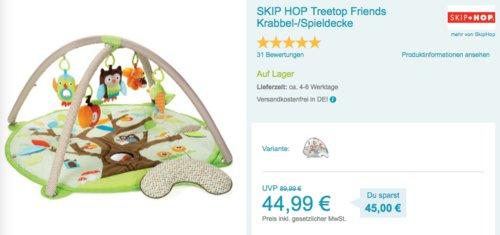SKIP HOP Treetop Friends Krabbel-/Spieldecke - jetzt 32% billiger