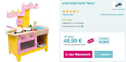 """small foot® Spielküche """"Nena"""" aus Holz - jetzt 29% billiger"""
