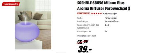 SOEHNLE 68056 Milano Plus Aroma Diffuser - jetzt 25% billiger