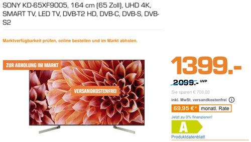 Sony KD-65XF9005 164 cm (65 Zoll) 4K HDR-Fernseher - jetzt 7% billiger