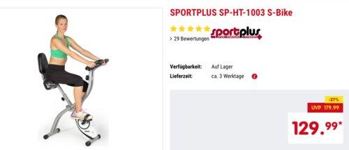 SPORTPLUS SP-HT-1003 S-Bike, klappbarer Hometrainer mit Komfortsattel - jetzt 6% billiger