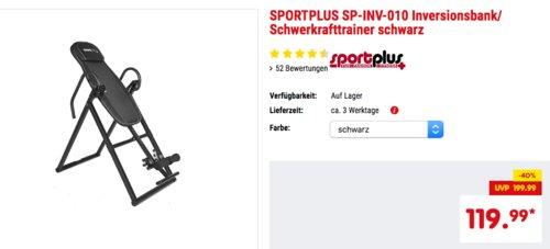 SPORTPLUS SP-INV-010 Inversionsbank/ Schwerkrafttrainer in Schwarz oder Rot - jetzt 8% billiger