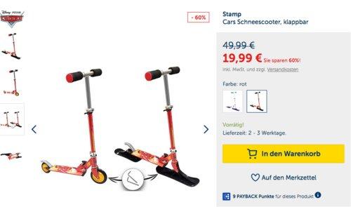 Stamp Cars 2in1 Scooter - Roller und Schneescooter - jetzt 21% billiger