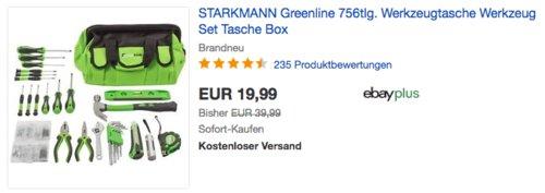 STARKMANN Greenline Werkzeug-Set 756-tlg. - jetzt 45% billiger
