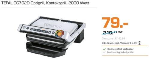 TEFAL GC702D Optigrill Elektro-Kontaktgrill, 2000 Watt - jetzt 20% billiger