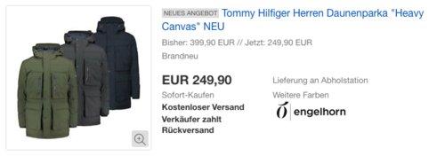 """Tommy Hilfiger Herren Daunenparka """"Heavy Canvas"""" - jetzt 11% billiger"""