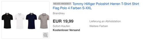 Tommy Hilfiger Herren Poloshirt Flag Polo S-XXL - jetzt 20% billiger