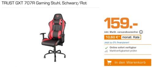 TRUST GXT 707R Gaming Stuhl, Schwarz/Rot - jetzt 12% billiger