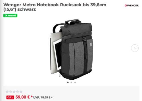 """Wenger Metro Notebook Rucksack bis 39,6cm (15,6"""") - jetzt 18% billiger"""