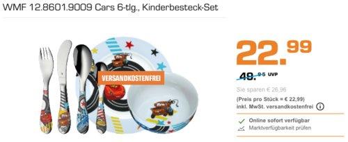 WMF 12.8601.9009 Cars Kinderbesteck-Set 6-tlg. - jetzt 15% billiger
