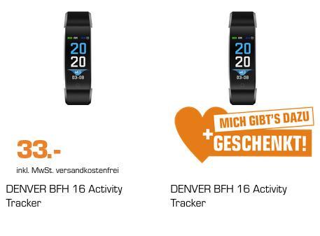 2 x DENVER BFH-16 Activity Tracker, 240 mm, schwarz - jetzt 50% billiger