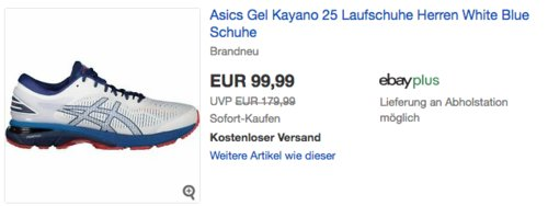 Asics Gel Kayano 25 Herren Laufschuhe, weiß/blau - jetzt 9% billiger