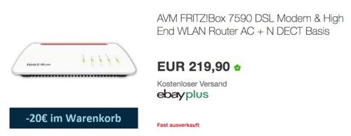 AVM FRITZ!Box 7590 DSL Modem & High End WLAN Router AC + N - jetzt 7% billiger