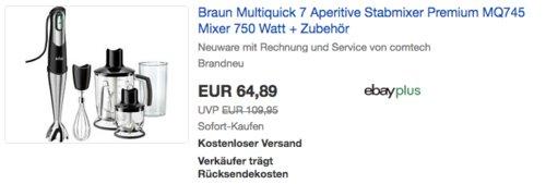 Braun Multiquick 7 MQ 745 Mixer inkl. Zubehör - jetzt 7% billiger