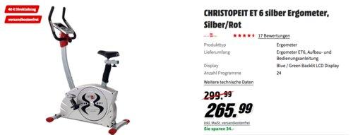 CHRISTOPEIT ET 6 Ergometer in Silber/Rot - jetzt 15% billiger
