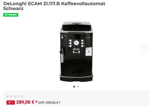 DeLonghi ECAM 21.117.B Kaffeevollautomat, schwarz - jetzt 10% billiger