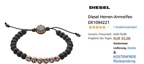 Diesel Herren-Armreifen DX1094221 - jetzt 53% billiger