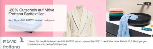 eBay 20% Gutschein auf Badzubehör und -Textilien: z.B.  Möve Bamboo Wäschetruhe 54 x 33 x 50 cm - jetzt 20% billiger