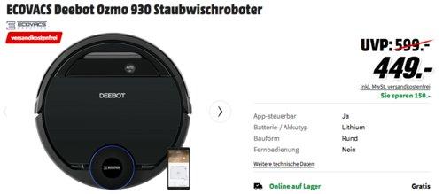 ECOVACS Deebot Ozmo 930 Staubwischroboter, schwarz - jetzt 3% billiger