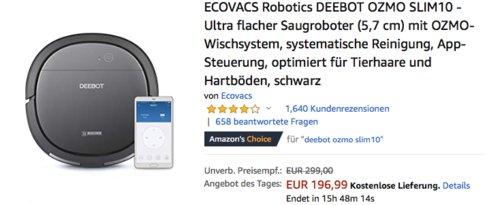 ECOVACS Robotics DEEBOT OZMO SLIM10 Saugroboter - jetzt 20% billiger
