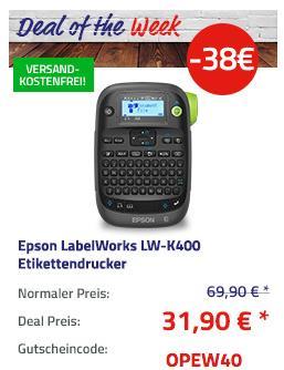 Epson LabelWorks LW-K400 Etikettendrucker, 180 dpi - jetzt 46% billiger