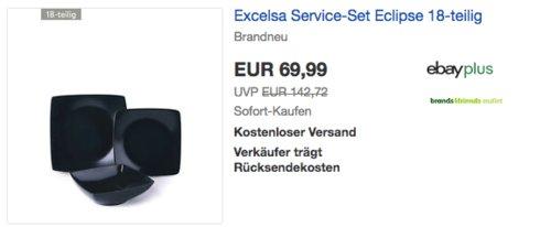 """Excelsa Service-Set """"Eclipse"""" 18-teilig, schwarz - jetzt 8% billiger"""