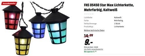 FHS 05450 Star Max LED Partylichterkette Laterne, 20 LEDs - jetzt 55% billiger