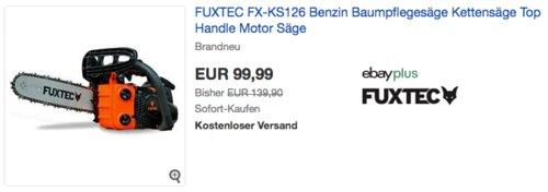 FUXTEC FX-KS126 Benzin-Kettensäge, 30 cm Schwertlänge - jetzt 29% billiger