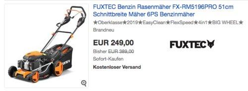 FUXTEC FX-RM5196PRO Benzin-Rasenmäher, 51 cm Schnittbreite - jetzt 36% billiger