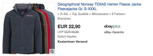 Geographical Norway TEXAS Herren Fleecejacke, versch. Farben und Größen - jetzt 8% billiger