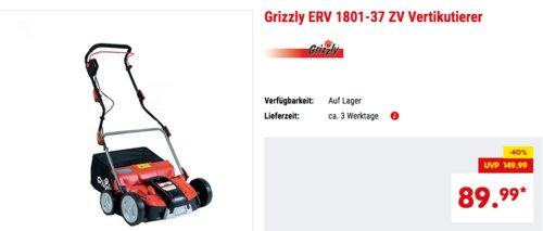 Grizzly ERV 1801-37 ZV Vertikutierer, elektrischer Rasenlüfter - jetzt 25% billiger