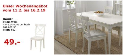 IKEA Berlin-Waltersdorf - INGOLF Stuhl, weiß - jetzt 17% billiger