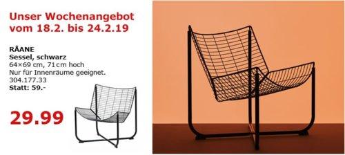 IKEA Berlin-Waltersdorf - RAANE Sessel, schwarz - jetzt 49% billiger