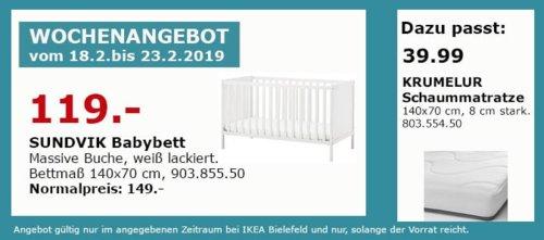 IKEA Bielefeld - SUNDVIK Babybett, weiß - jetzt 20% billiger