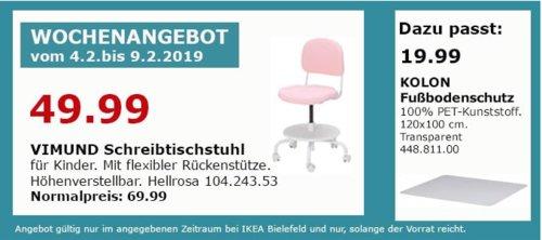 IKEA Bielefeld - VIMUND Schreibtischstuhl für Kinder, hellrosa - jetzt 29% billiger