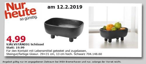 IKEA Bremerhaven - SJÄLVSTÄNDIG Schüssel, schwarz, 13 cm hoch - jetzt 75% billiger